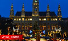 Vienna's romantic side is on full display every holiday season. From November 26th through the end of the year the city is full of lights and holiday cheer. #USAATravel #USAAShopping