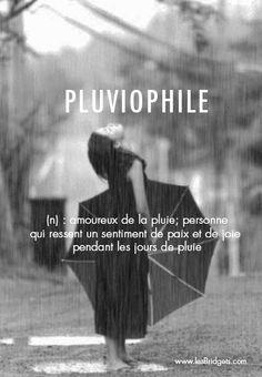 Pluviophile : typiquement le genre de personnes qu'il faut être ce week-end sinon... #pluie
