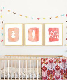 Pink nursery decor  #zulilyfinds