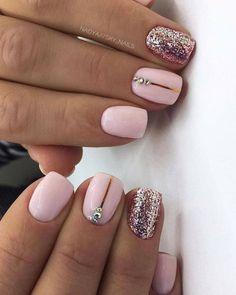 Acrylic Nail Designs Coffin, Square Acrylic Nails, Square Nails, Short Pink Nails, Short Gel Nails, Light Pink Acrylic Nails, Pink Nail Art, Almond Nails Designs, Pink Nail Designs