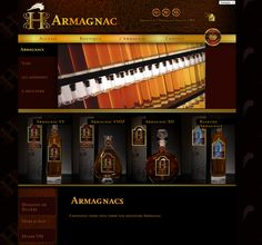 Web design for an Armagnac liquor