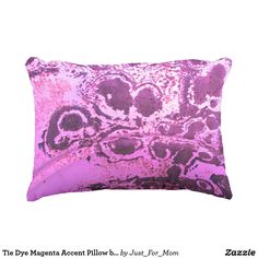 Tie Dye Magenta Accent Pillow by Janz