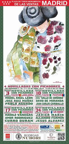 madridbullfight.com: Cartel abril 2016 Las Ventas