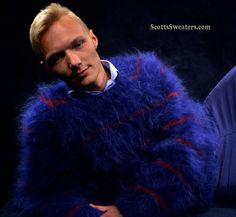 Men's custom knit mohair sweater...