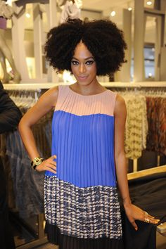 Solange, got to see her at Lord & Taylor when she wore this dress. btw its like $300