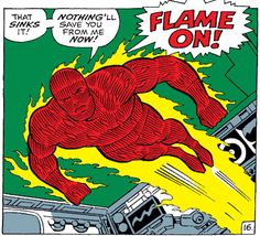Ever since the Human Torch entered the public consciousness in the golden age of comics, we've been fascinated with fire-based characters. I have 13 from Marvel Comics for your consideration. Storm Comic, Storm Marvel, Captain Marvel Shazam, Fantastic Four Comics, Mister Fantastic, Comic Book Characters, Marvel Characters, Comic Books, Bd Comics