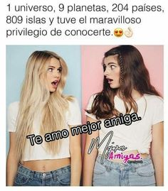 Best Friends Forever, My Best Friend, Bff Quotes, Friendship Quotes, Ex Bf, Funny Spanish Memes, Sisters Forever, Fake Friends, Best Friend Pictures