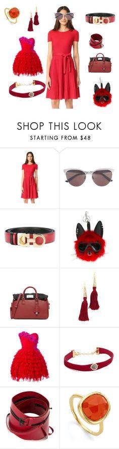 """Fashion mall"" by emmamegan-5678 ❤ liked on Polyvore featuring Salvatore Ferragamo, Gucci, STELLA McCARTNEY, Maison Margiela, Vanessa Mooney, Dolce&Gabbana, Shashi, Ann Demeulemeester, Monica Vinader and vintage"