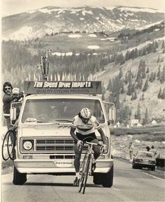 Bill Woodul and Bill Humphries in the Ten Speed Drive support van.