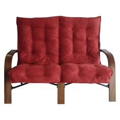 Have to have it. Foldable Loveseat with Micro Suede Cushion and Carry Bag - Cardinal Red Cushion - $138.98 @hayneedle.com