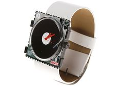 Stamps Disco record turntable watch - Retro to Go Dj Gear, Vinyl Music, Vinyl Records, Music Jewelry, Dj Equipment, Record Players, Wedding Music, Boombox, Jewelry Making Supplies