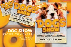 Dog Show Flyer Template Templates Includes 2 photoshop files. Very easy to edit, change color, remove textures and move elements. All by Graphicdome Business Brochure, Business Card Logo, Business Flyer, Business Illustration, Pencil Illustration, Flyer Design Templates, Flyer Template, Dog Template, Facebook Cover Template