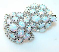 Luxury Look Of Opal Sterling Silver earrings