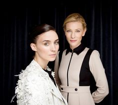 Rooney Mara and Cate Blanchett for The Hollywood Reporter