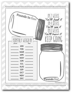To Insanity & Back: 12 Month Weight LOSS tracker DOWNLOAD