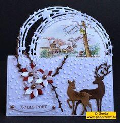 Bijzondere kaartvormen voor kerst met de Marianne Design CR1293