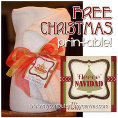 "Free Christmas Tag Printable... ""FLEECE"" Navidad! by My Computer is My Canvas"