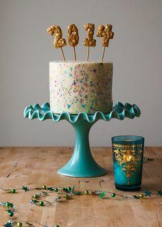2014 Confetti Cake - Style Sweet CA Happy Year 2014!