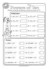 math worksheet : multiplying and dividing decimals by powers of 10 worksheets  : Multiplying And Dividing Decimals By Powers Of 10 Worksheet