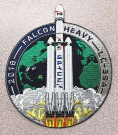 NEW SPACEX ORIGINAL FALCON HEAVY FH 1st Launch & Landing Mission PATCH-PRE-ORDER