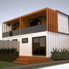 ⌂ The Container Home ⌂ Fundos! Sacada na suíte! #casacontainer #containerhouse…