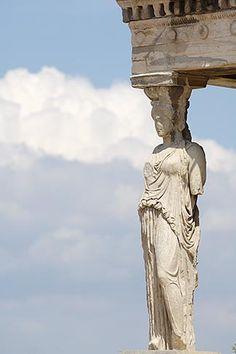 Greece, Athens, Acropolis, Porch of the Caryatids, Erectheion