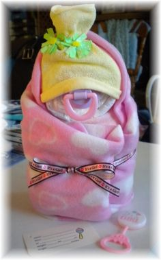 Diaper Cake  Swaddle Me Girl Baby Shower Gift by thecraftersgarden, $15.00