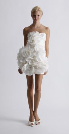 Robe de mariée courte Marchesa