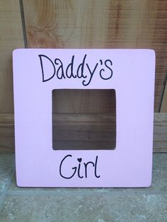 Simple Daddy's Girl Photo Frame  Simple Daddys Girl Photo Frame  Simple Daddy's Girl Photo Frame!  I know some Daddy's, (like my daughters) just melt when they see ANYTHING that has Daddy's girl on it. So this would be a perfect gift for a soon-to-be or newly Daddy! And not to mention, it could be a great gift for Father's Day as well! This frame is actually pink, the pink that is in the second picture posted but for some reason far away the pink doesn't take!