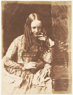 Justine Gallie (née Monro) by David Octavius Hill, and Robert Adamson calotype, Victorian Photography, Old Photography, History Of Photography, Vintage Pictures, Old Pictures, Old Photos, Vintage Images, Diane Arbus, Robert Mapplethorpe