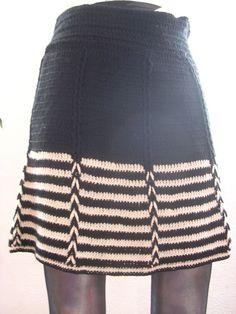 Hand crochet skirt.