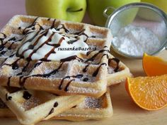 Najlepšie wafle Fast Dinners, Breakfast For Kids, Sweet Tooth, French Toast, Sweet Treats, Food And Drink, Menu, Cooking Recipes, Sweets