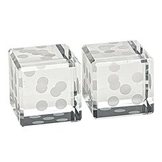 "Badash - Crystal Pair of Dice H 1.5"" Badash"