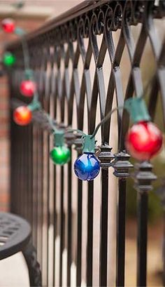 Colorful Globe Lights   Hang These Party Lights From Balconies Or On The  Patio!