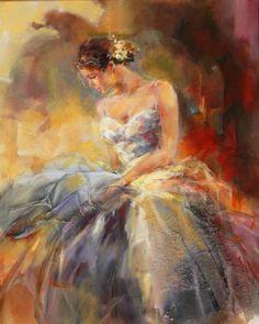 Grace - painting by Anna Razumovskaya #Art  #Painting