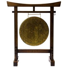 Anglo-Japanese Gong Designed by E. Meditation Garden, Meditation Rooms, Asian Inspired Decor, Garden Mirrors, Japanese Furniture, Revival Architecture, Zen, Old Shows, Victorian Design