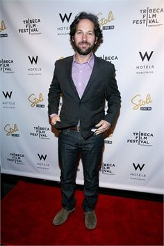 Paul Rudd looks casual and stylish on the red carpet.