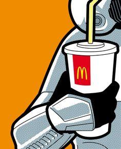 22 ilustraciones molonas de marcas populares con iconos de la cultura pop5