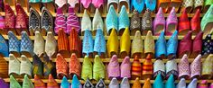 Moroccan shoes, beautiful but impossible to walk in when you have thin feet with an arch. lol