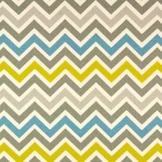 Premier Prints Fabric Zoom Zoom Chevron in Summerland Natural