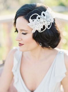 Gatsby inspired bridal beauty: http://www.stylemepretty.com/collection/2199/