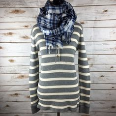 """[J. Crew] Stripe Waffle Knit Henley Thermal Gray Fitted and stretchy long sleeve thermal top. Gold button Henley placket. Scoop neck. Thick knit cuffs. Perfect for layering.  Color: Gray & Cream Fabric: 100% Cotton Size: Medium Bust: 14"""" Length: 26"""" Condition: EUC. No flaws.  No Trades! No PayPal! J. Crew Tops Tees - Long Sleeve"""