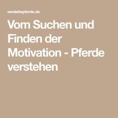 Vom Suchen und Finden der Motivation - Pferde verstehen