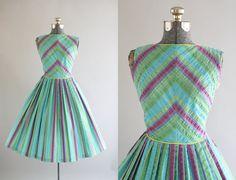 Vintage 1950s vestido años 50 algodón GIBSON por TuesdayRoseVintage