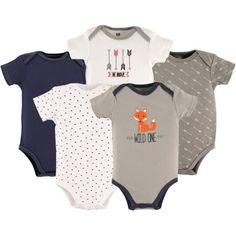Hudson Baby Cotton Bodysuit 5 Pack Penguin 6 9 Months Baby Baby