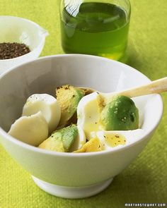 Hard-Boiled Egg Whites with Avocado. Sounds like a tasty option for a quick and healthy breakfast!