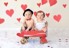 Twins, photography, one year old, boy/girl twins, Valentines Day