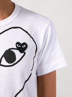 ショッピング Comme Des Garçons ロゴプリント Tシャツ in Hirshleifers from the world's best independent boutiques at farfetch.com.…
