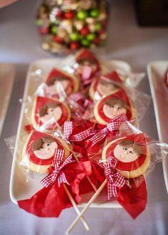 Galletitas decoradas Caperucita Roja