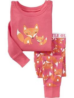 Big Fox, Little Fox Sleep Sets for Baby | Old Navy  4T (Baby has legs for DAYS!)
